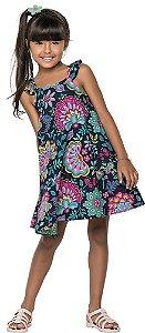 Vestido Infantil Azul Nanai 600038
