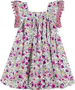 Vestido Infantil Viscose Rosa Nanai 600043