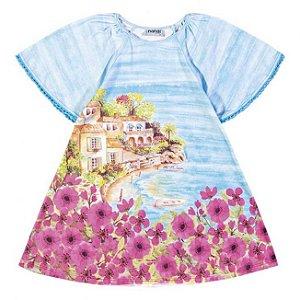 Vestido Infantil Flores Rosa Nanai 600116