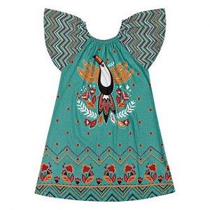Vestido Infantil Tucano Verde Nanai 600257
