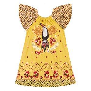 Vestido Infantil Tucano Amarelo Nanai 600257