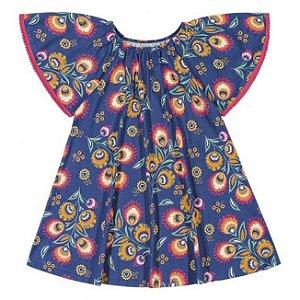 Vestido Infantil Floral Azul Nanai 600263