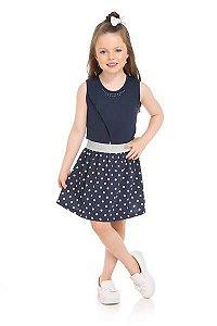 Vestido Infantil Azul Serelepe 5596