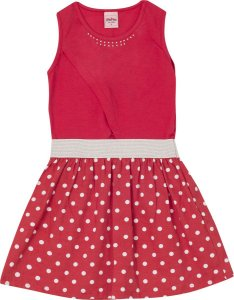 Vestido Infantil Vermelho Serelepe 5596
