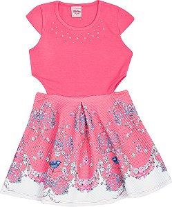 Vestido Infantil Pink Serelepe 5104