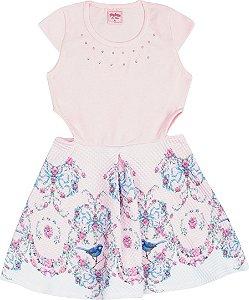 Vestido Infantil Rosa Serelepe 5104