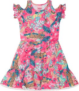Vestido Infantil Fauna Rosa Serelepe 5060