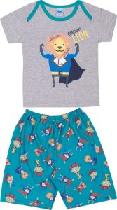 Pijama Infantil Short + Camiseta Mescla Serelepe 5135