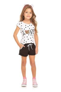 Conjunto Infantil Camiseta + Short Moletinho Serelepe 5587