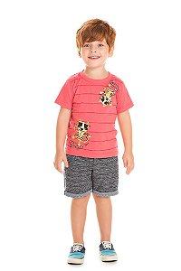 Conjunto Infantil Bermuda + Camiseta Vermelha Serelepe 5077