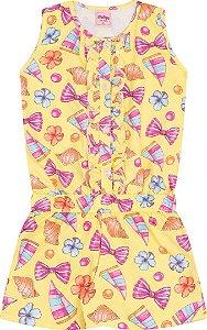 Macacão Infantil Amarelo Serelepe 5106