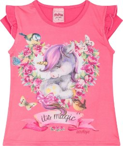 Camiseta Infantil Unicórnio Pink Serelepe 5037