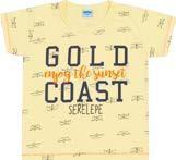 Camiseta Infantil Masculina Amarela Serelepe 4584