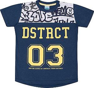 Camiseta Infantil Masculina Azul Marinho Serelepe 5109