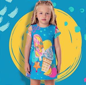Vestido Curto Infantil Sorvete Mon Sucre 7290