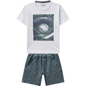 Conjunto Infantil Camiseta Mescla + Short Sarja Milon 11791