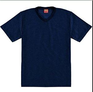 Camiseta Basica Lisa Azul Marinho Kyly 107630
