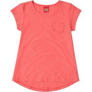 Camiseta Básica Infantil Laranja Kyly 106620