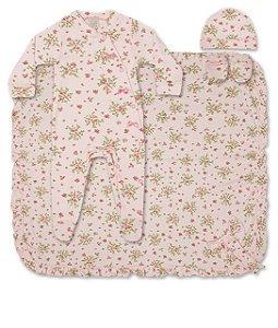 Saída de Maternida Floral Rosa Algodão Pingo Lelê 65926