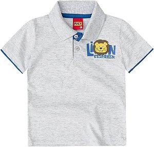 Camiseta Polo Infantil Leão Kyly 108898