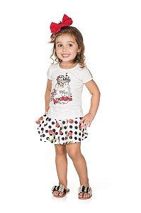 Conjunto Infantil Saia + Blusa Pega Mania 72031
