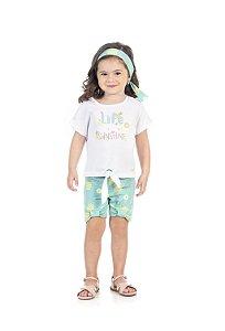Conjunto Infantil Short + Blusa Pega Mania 76179