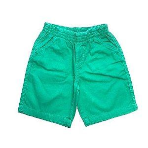 Bermuda Infantil em Sarja Verde Pega Mania 81459