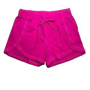 Short Infantil em Malha Pink Pega Mania 82267