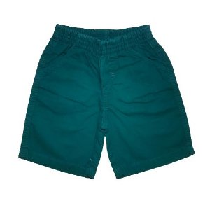 Bermuda Infantil em Sarja Verde Escuro Pega Mania 81439