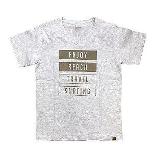 Camiseta Infantil Enjoy Beach Travel Pega Mania 31555