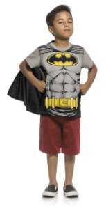 Camiseta Batman com Capa  Kamylus 91434