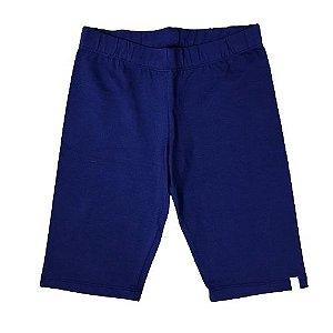 Short Infantil Cotton Ciclista Pega Mania 81454 Azul Marinho