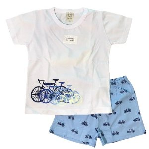 Pijama Curto Infantil Bicicleta Pingo Lelê 86000
