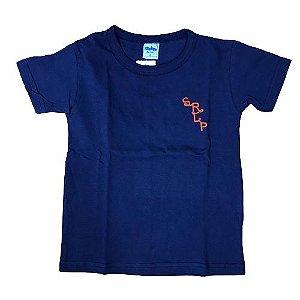 Camiseta Basica Infantil Serelepe 4538 Azul Marinho