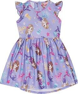 Vestido Infantil Curto Sereia Serelepe 5558 Lilás