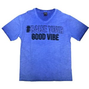 Camiseta Infantil Masculina Azul Kyly 108162