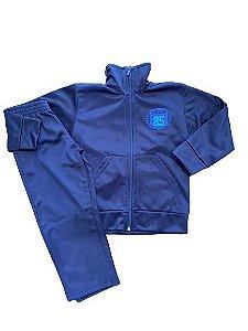 Conjunto Infantil Casaco + Calça em NBA Peluciado Azul Marinho Serelepe 4863