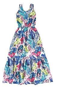 Vestido Infantil Longo Azul Malwee 32841
