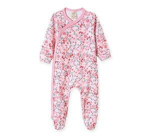 Macacão Bebê Rosa em Suedine Pingo Lelê 66678