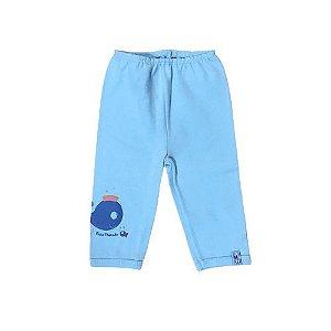 Calça p/ Bebê Baleia Bicho Molhado 778381 Azul Claro