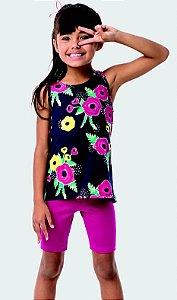Camiseta Infantil Florida Azul Marinho Malwee 32857
