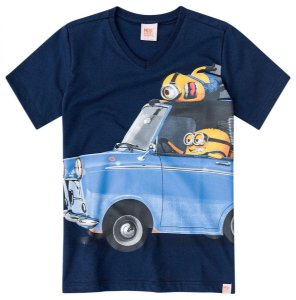 Camiseta Infantil Minions Azul Malwee 28759