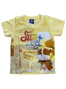 Camiseta Infantil Patrulha Canina Amarela Malwee 32696