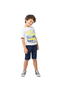 Conjunto Infantil Camiseta + Bermuda Tactel Malwee 32666
