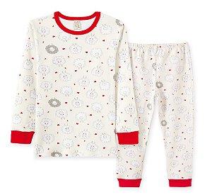 Pijama Longo em Suedine Infantil Ovelhas Pingo Lelê 76201