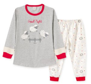 Pijama Longa em Malha Infantil Ovelhas Pingo Lelê 76202
