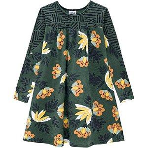 Vestido Manga Longa Floral Nanai 600626