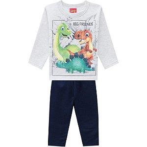 Conjunto Infantil Moletom Casaco + Calça Dinossauro Kyly 207439