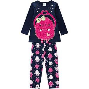 Pijama Moletom Casaco + Calça Monstrinho Kyly 207529