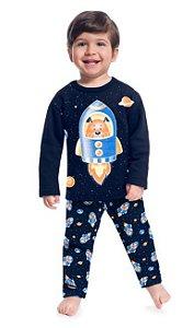 Pijama Infantil Moletom Casaco + Calça Astronalta Kyly 207541